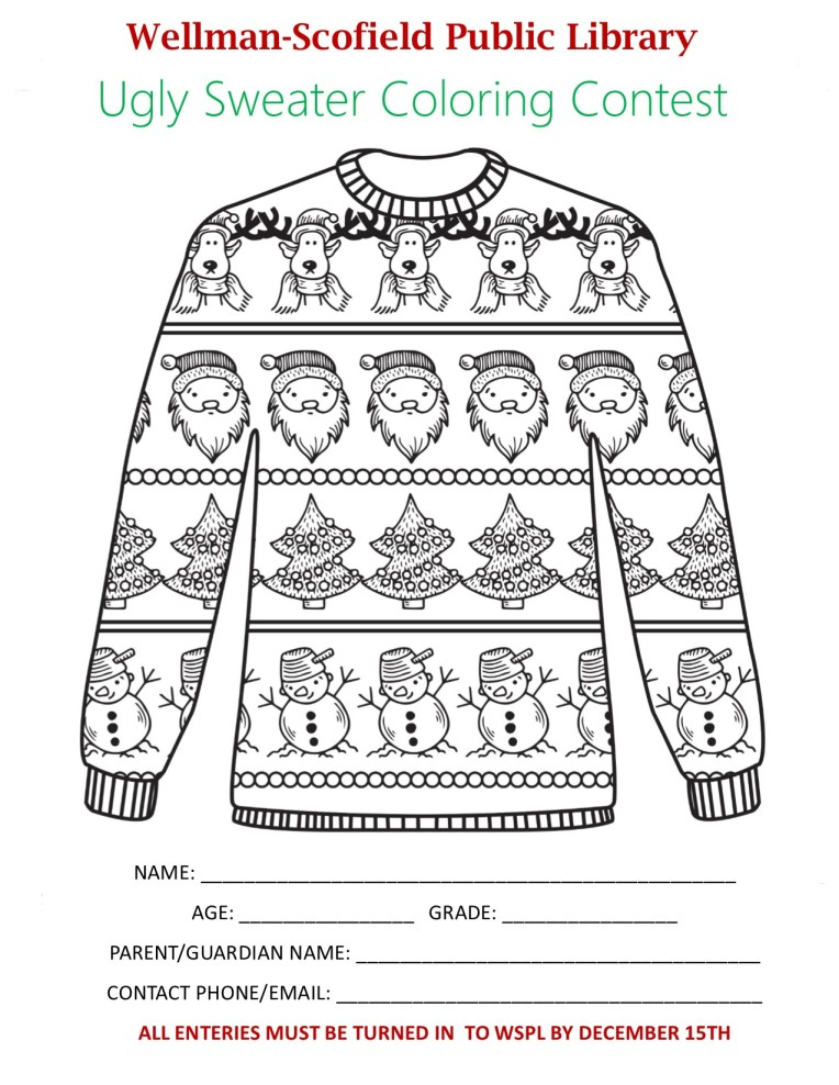 UGLY SWEATER ENTRY FORM