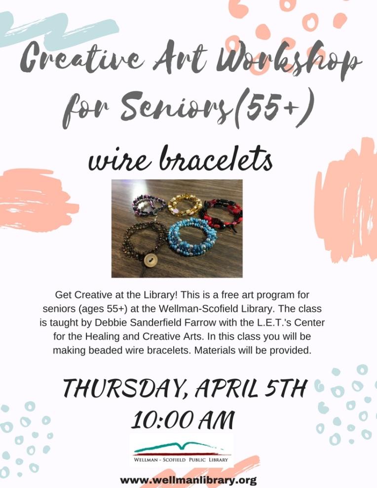 creative Art workshopfor Seniors (55+)