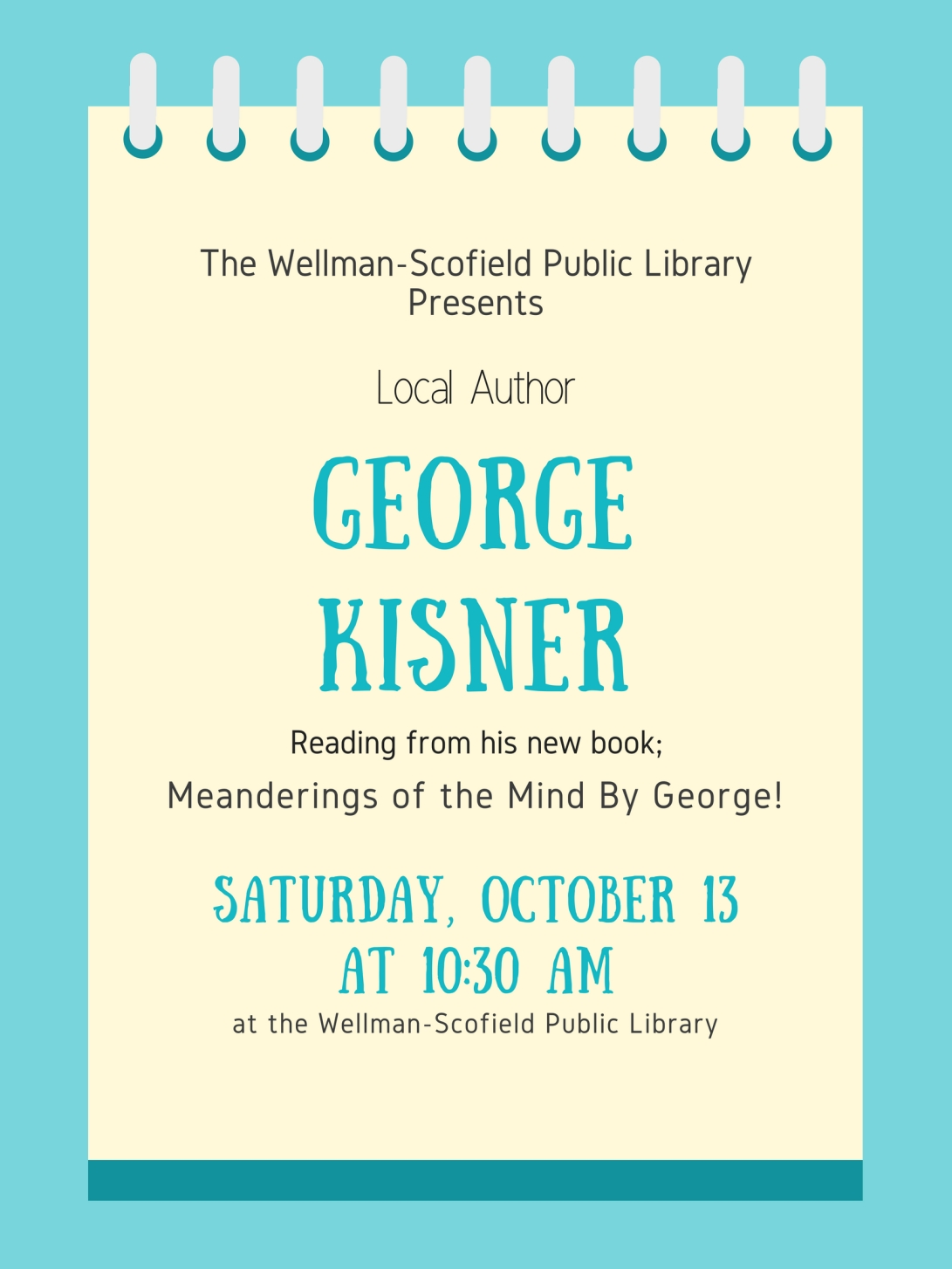The Wellman-Scofield Public LibraryPresents