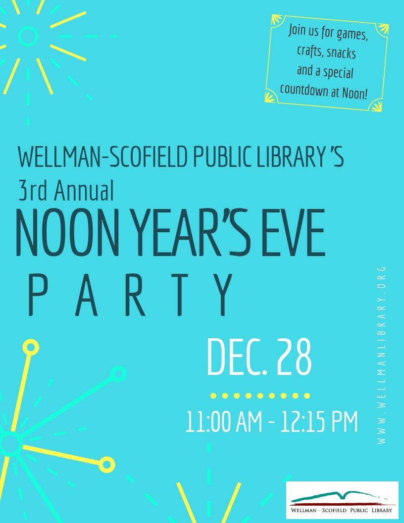 wellman-scofield public library 's 5th Annual